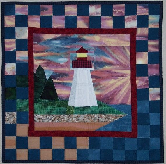 Quilting Lighthouse Patterns : 173 best images about lighthouse quilts on Pinterest Quilt, Lighthouses and The whale