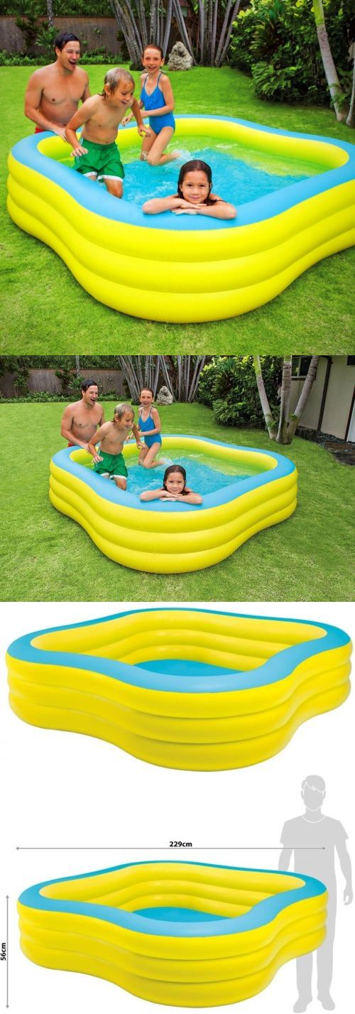 Inflatable and Kid Pools 116407: Outdoor Summer Inflatable Pool Water Splash Fun Relaxing Family Kids Drain Plug -> BUY IT NOW ONLY: $50.9 on eBay!