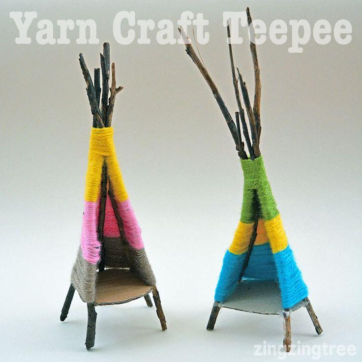 Yarn Craft Teepee - Tea Light Holder