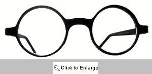 School Boy Small Round Reading Glasses - 252R Black