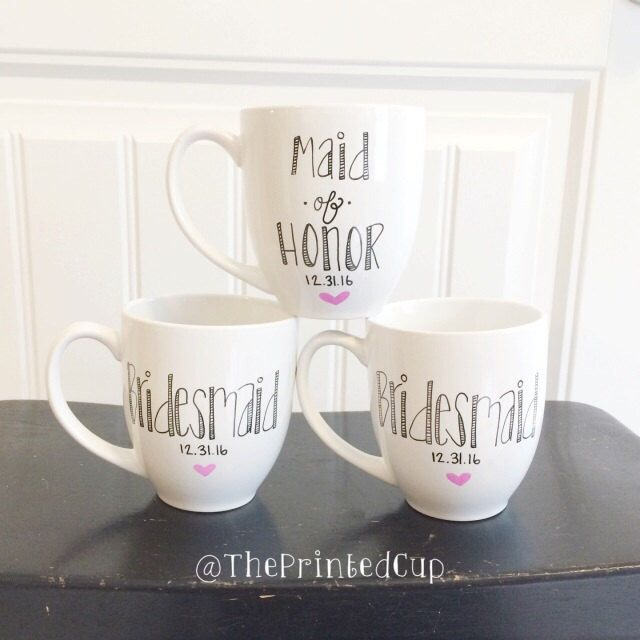 "Custom Personalized Bridesmaid Bridesmaids gift present - Bridal - Wedding -Engaged - Bride - engagement - Maid of Honor "" Coffee Tea Mug by ThePrintedCup on Etsy https://www.etsy.com/listing/238826849/custom-personalized-bridesmaid"