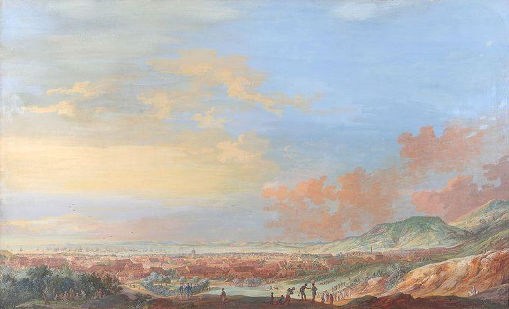 La ville du Cap Français à Saint-Domingue vue de la colline - Collections des musées