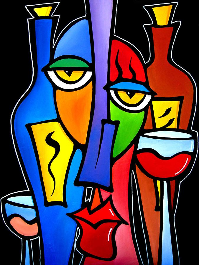 Pop Art Painting - Surrounded - Original Pop Art By Fidostudio by Tom Fedro - Fidostudio
