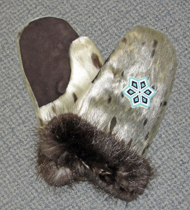 YUPIK MITTENS FROM SEALSKIN WITH BEADWORK  http://www.alaskanativearts.org/social-media