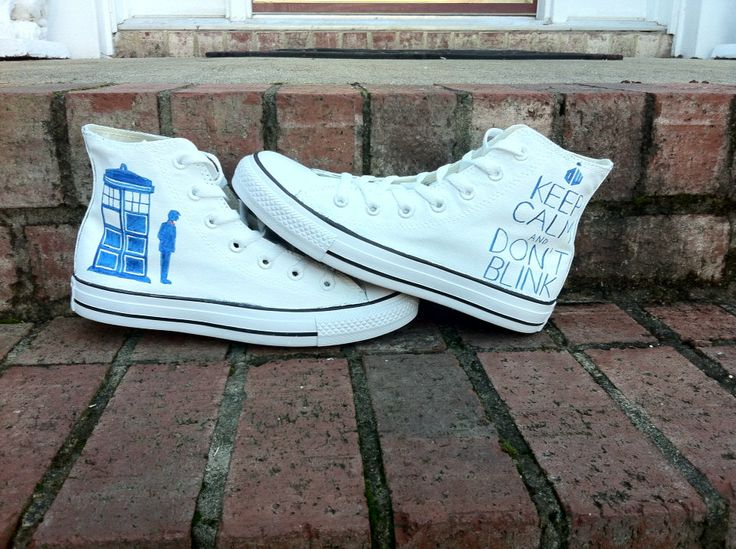 Doctor Who Converse by VuVuDesigns on Etsy, $89.00.   Paulas