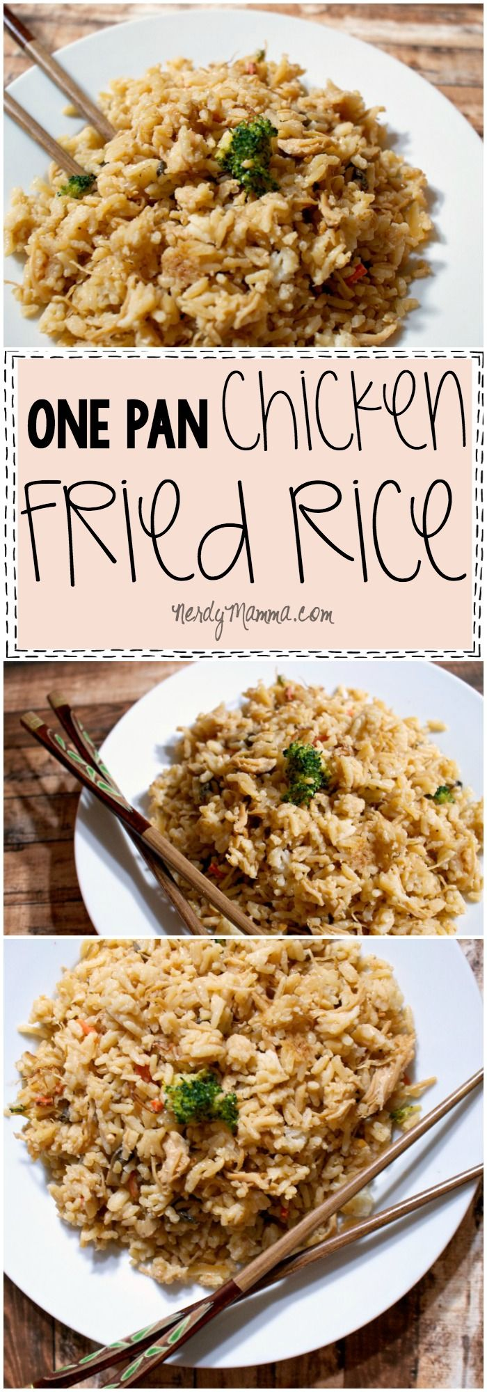 I absolutely LOVE this recipe for One Pan Chicken Fried Rice. So fast and my family thinks it's just like take-out! LOL!