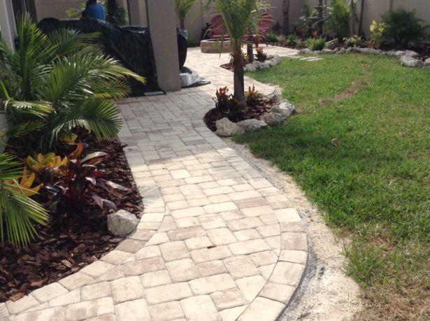 Exterior Walkway Pavers Cost Large Walkway Pavers Lawn Pavers Walkway  Walkway Pavers For Versatile Garden View
