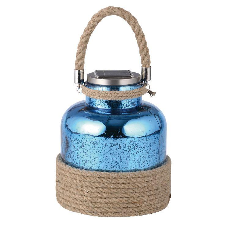Lanterne solaire portative verre - bleu : http://www.maginea.com/fiche/P201511120037.html