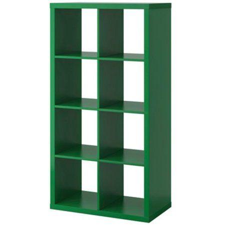 Free Shipping. Buy Ikea Kallax Bookcase Shelving Unit Display (Green),10214.228.1814 at Walmart.com