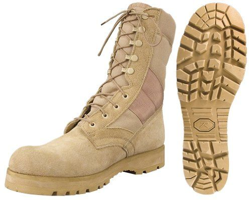 """Desert Tan -Sierra Lug Sole Military Desert Boots (Leather), 8"""" 5257 Size 12R Army Universe,  MEN'S FASHION  to buy just click on amazon here  http://www.amazon.com/dp/B000N48WL2/ref=cm_sw_r_pi_dp_aKNpsb0E9HCTB30C"""