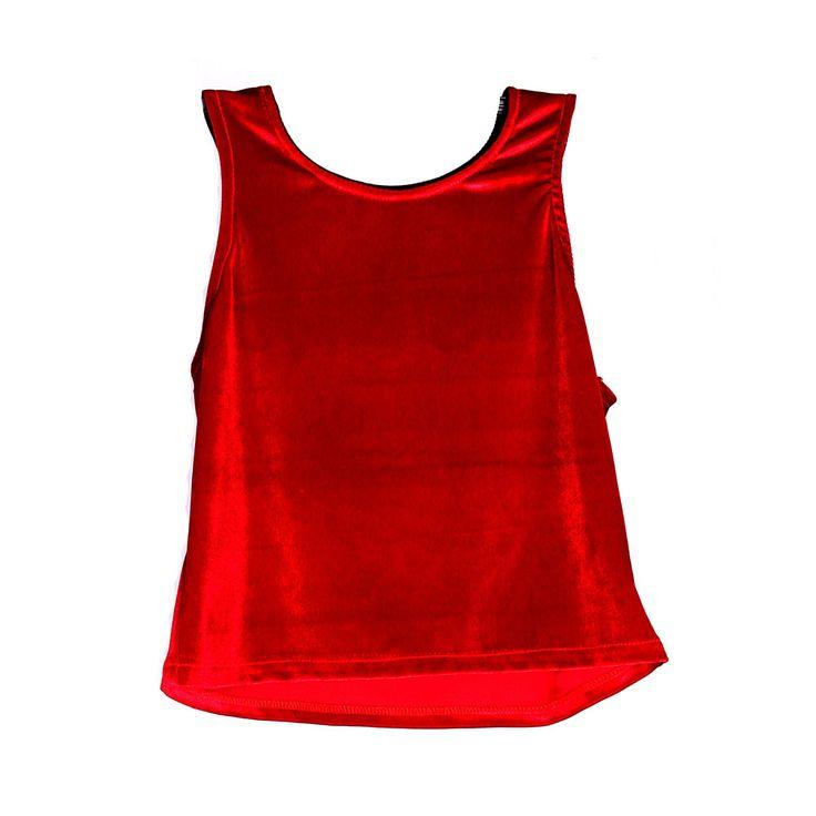 Poleras & Blusas de Mujer: Peto Rojo de Terciopelo - tiendaC