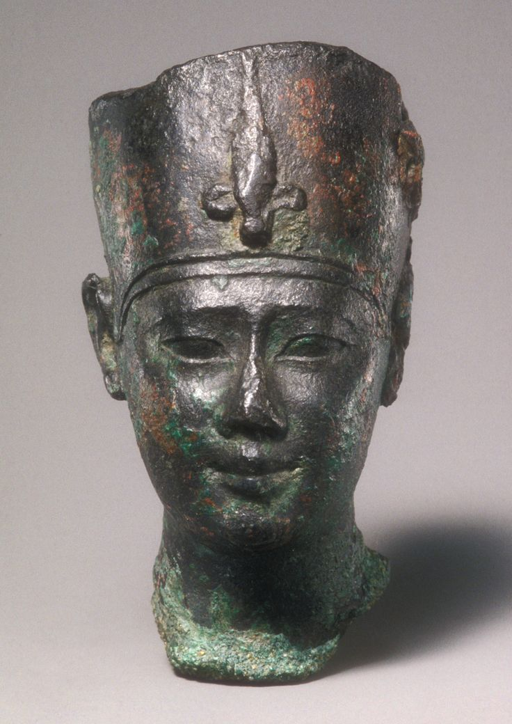 Head of Ptolemy II or III -  Period: Ptolemaic Period - Reign: reign of Ptolemy III Euergetes I - Date: 246–222 B.C. - Geography: From Egypt -  Medium: Black bronze
