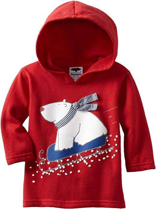 4743785eb Amazon.com  Mulberribush Baby Boys  Polar Bear Print And Applique ...