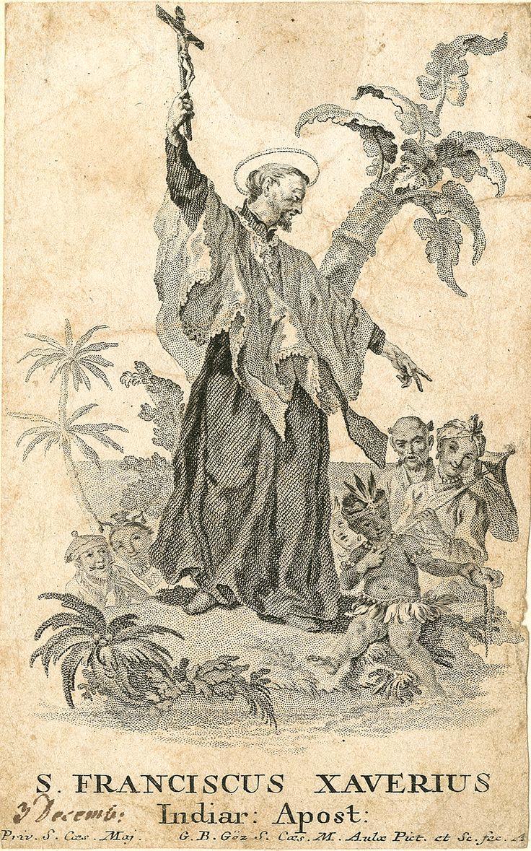 Gottfried Bernhard Göz: Svatý František Xaverský (Saint Francis Xavier), 2. pol. 18. století