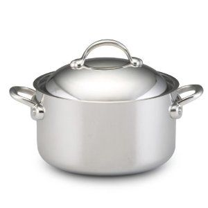 BonJour Copper Clad 8-Quart Covered Stockpot by BonJour. $237.01. Dishwasher and oven safe Suitable for use on all stove tops, including induction ranges. Thermo-Enhanced Base is 44% thicker than traditional copper core cookware providing superior heat distribution and control. 26 mm total thickness; 5-ply clad construction; Interior layer-04mm 18/10 stainless steel; bonding layer-03mm aluminum; core-10mm copper; bonding layer-03mm aluminum; exterior layer-06mm magniti...