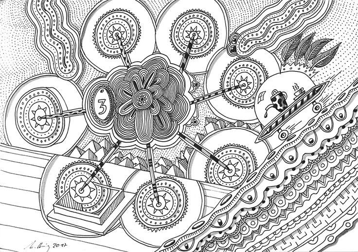 """""""isolated teatime"""", #Zeichnung #Pigmenttusche (Staedtler Pigment Fineliner) auf #Hahnemühle #Papier """"Nostalgie"""", 190 g/m2 21 x 29,7 cm, © #matthias #hennig 2017    """"isolated teatime"""", #india #ink #drawing (Staedtler Pigment Fineliner) on Hahnemühle #paper """"Nostalgie"""",190 g/sqm 21 x 29,7cm, © #matthias #hennig 2017 #mystaedtler #hennigdesign #artwork #moremoneyforartists #unexpected"""
