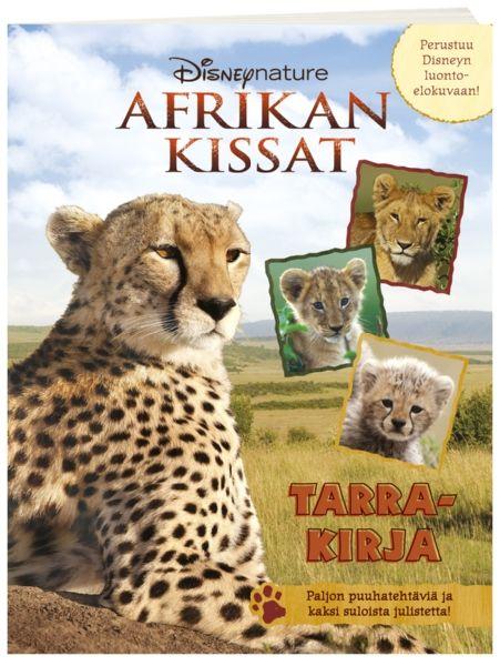 Afrikan kissat -tarrakirjan avulla tutustut hellyttäviin ja upeisiin savannin eläimiin. Mukana hauskoja tehtäviä, kaksi eläinjulistetta ja tietysti paljon tarroja!