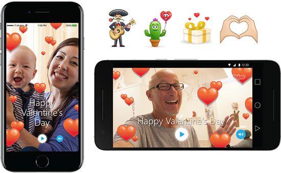 Saint-Valentin : Skype vous propose des Mojis et des émoticônes amoureux (TheSiteOueb)