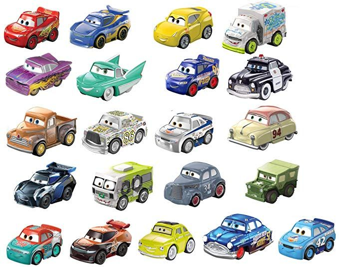 Disney Pixar Cars Mini Racers Vehicles 21 Pack Amazon Exclusive