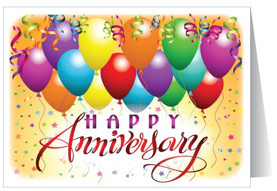 Happy th year anniversary business greeting