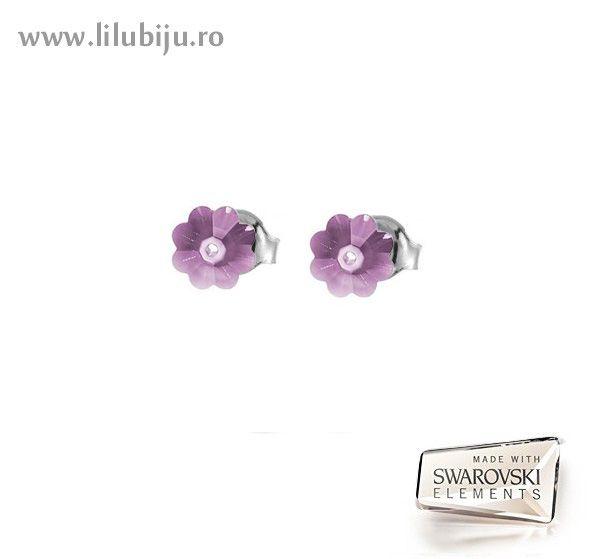 Cercei Swarovski Elements™ - Flori Margaritas Amethyst by LiluBiju (copyright)