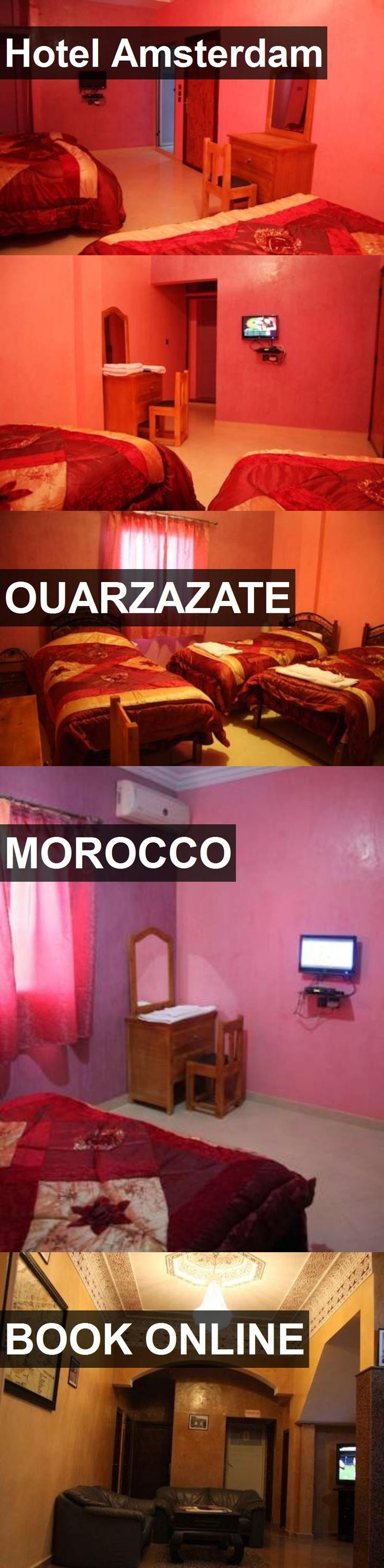 Hotel Amsterdam in Ouarzazate, Morocco. For more information, photos, reviews and best prices please follow the link. #Morocco #Ouarzazate #travel #vacation #hotel