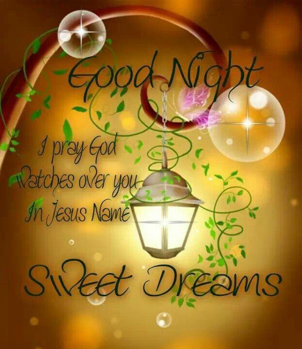 Good night...Sweet dreams.