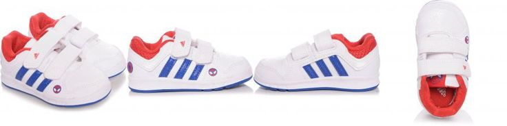 Tênis Infantil Adidas Lk Cf Branco e Azul Liso Homem Aranha