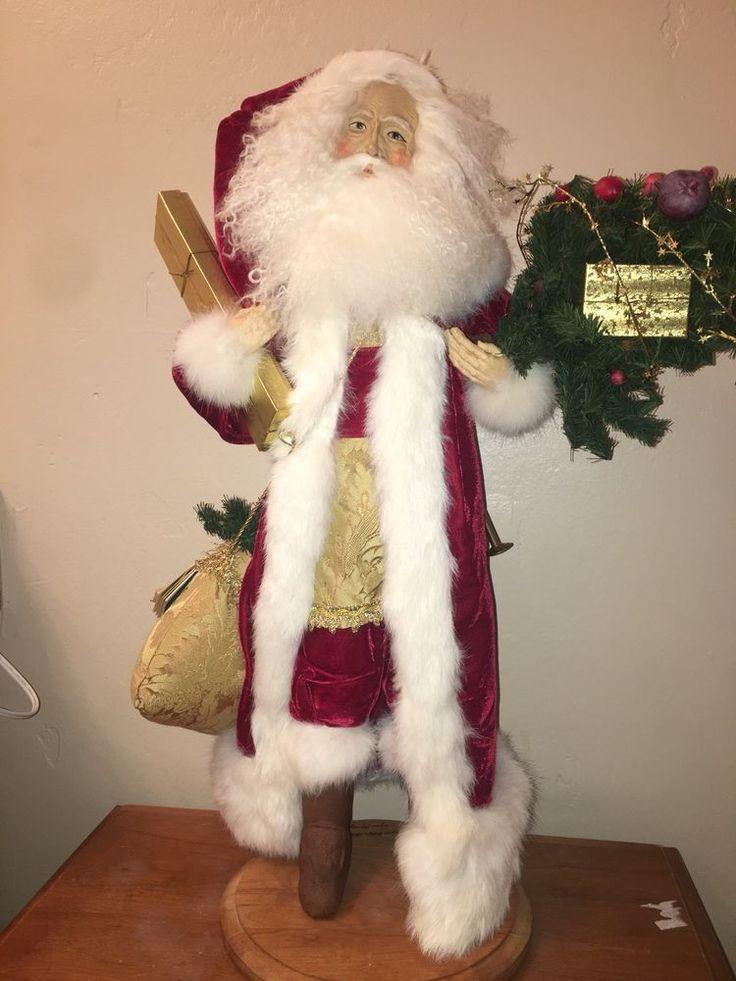 """Lynn Haney 1991 Father Christmas Santa Clause Figure size 24""""  #LynnHaney"""