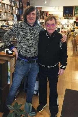 """Elton John pops into a Vancouver record store 