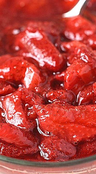 Roasted Strawberry Sauce