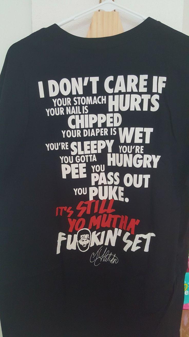 CT Fletcher shirt keeping  it real