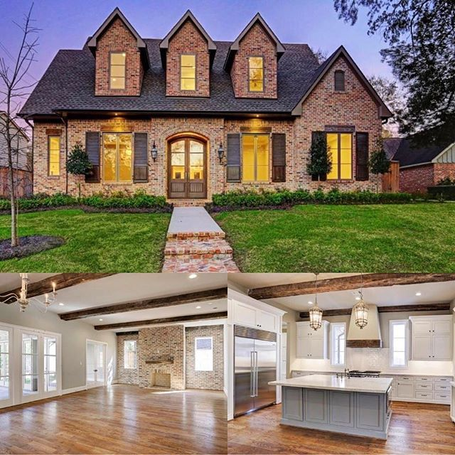 Acadian Inspired New Construction Antique Brick Home! Covered Patio W/summer  Kitchen, Lush
