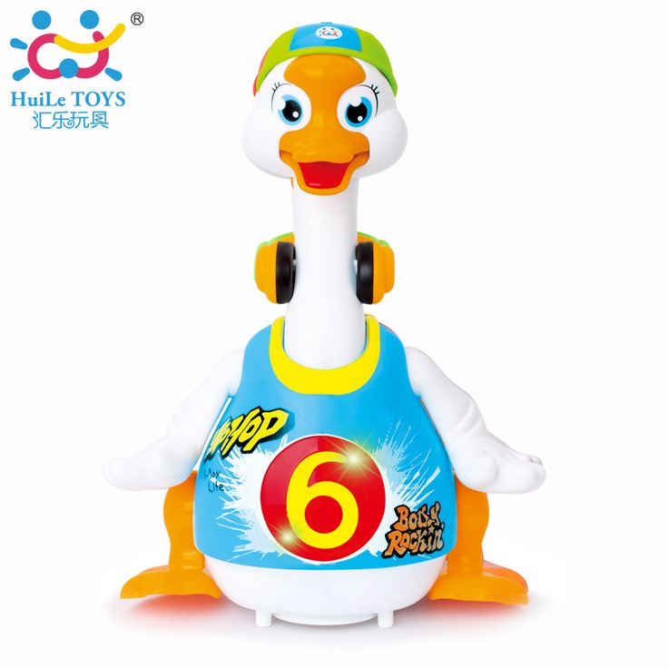 Huile Toys 828 Super Cute Intelligent Hip hop Dance Read Tell Story Interactive Swing Goose Toys for Children Xmas Gifts