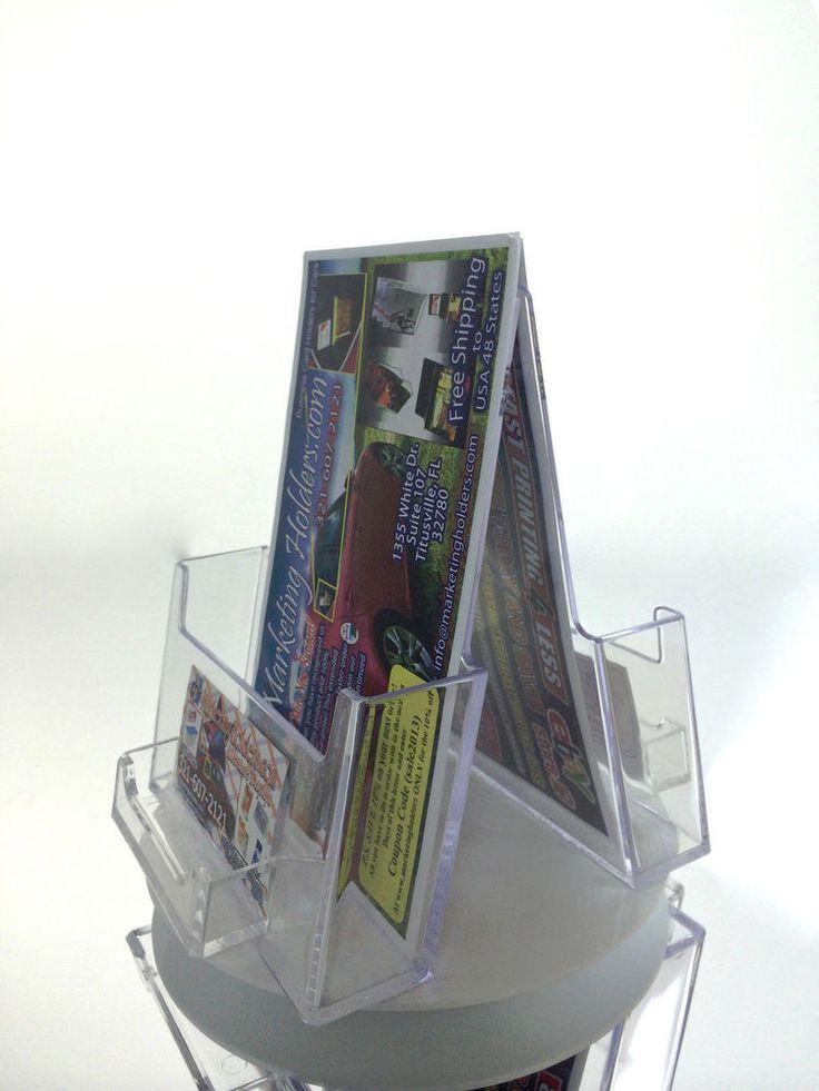 2 Pocket Rotating Bi-fold Holder 6 inch Wide Spinning Rack For Scentsy Catalog