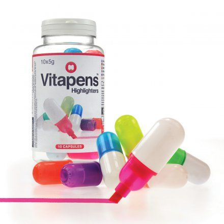Textmarker Vitapens jetzt im design3000.de Shop kaufen! Endlich gibt es eine Portion Vitamine für Ihren Schreibtisch . Die Textmarker Vitapens...