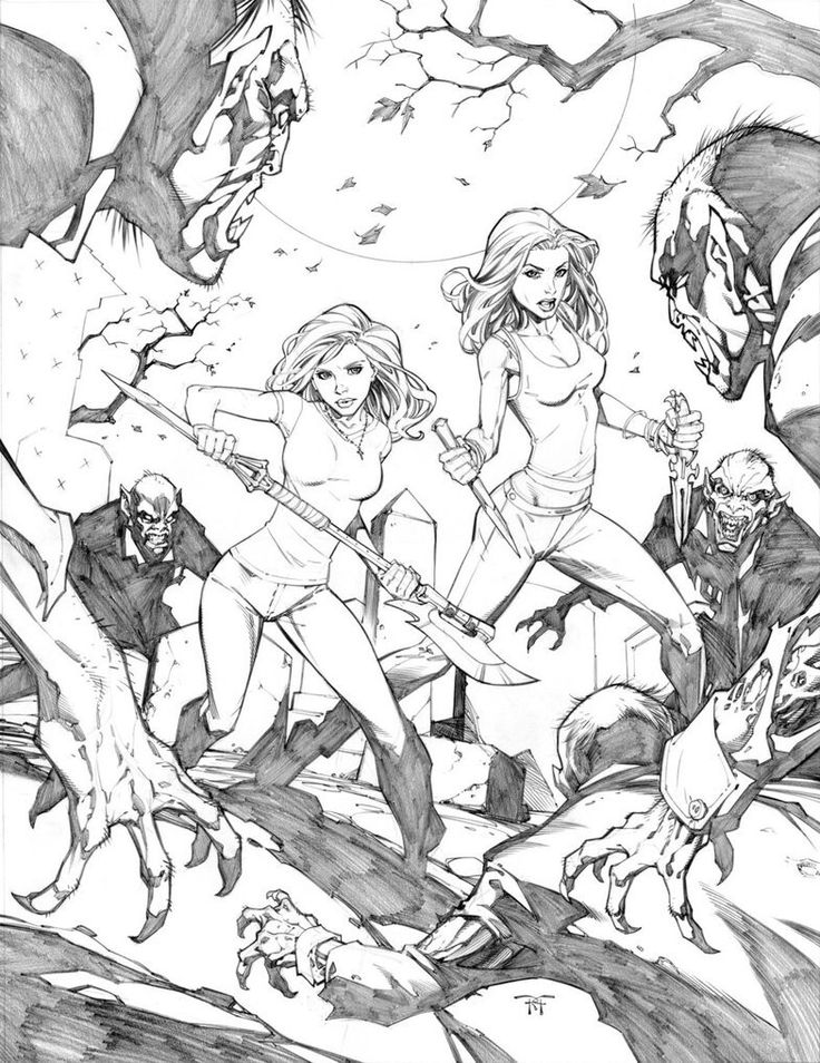 Comics Artwork Buffy The Vampire Slayer Faith Randy Green