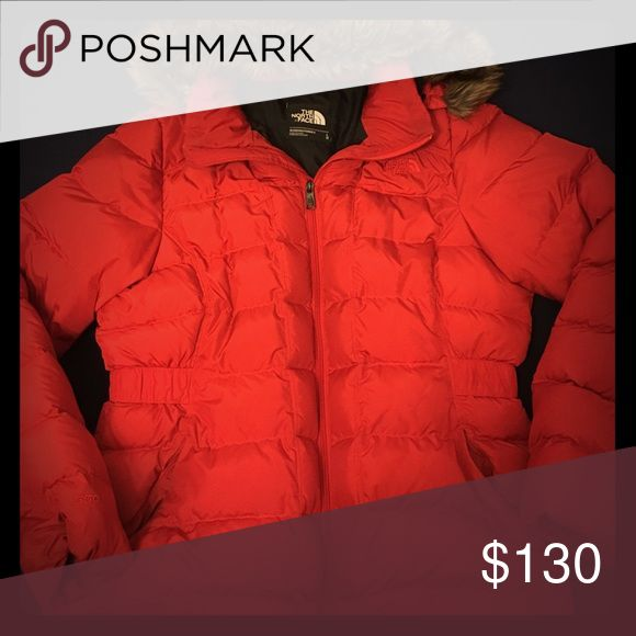 Woman's Red North Face Jacket Season #F16 Style #NF00CX66 North Face Jackets & Coats Puffers
