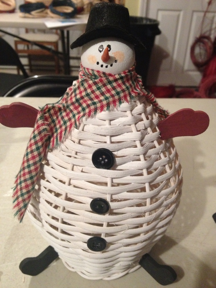 An adorable Frosty the Snowman.  https://www.etsy.com/listing/116218031/frosty-the-snowman