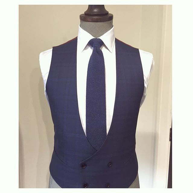 A brand new tailor made double-breasted waistcoat by David in our Christchurch store, made in Naples, Italy.  #workingstylenz #tailormade #waistcoat #vest #doublebreasted