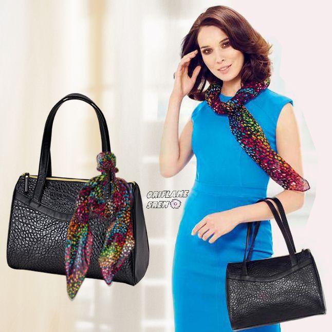Bolso Mindy imitación de cuero negro http://mx.oriflame.com/business-opportunity/become-consultant?potentialSponsor=507393#.VbzqN2cfotM.facebook