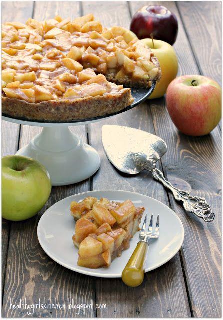 Raw Salted Caramel Apple Pie....Vegan.