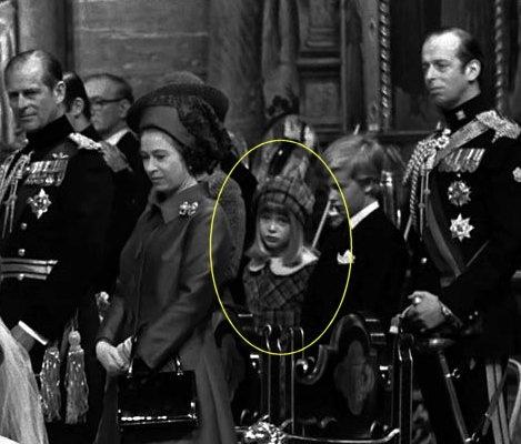 11-14-73 Lady Helen Windsor attending Princess Anne's wedding to Mark Phillips