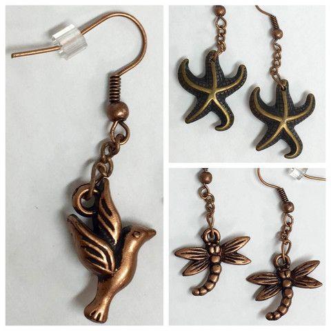 Boucles d'Oreilles Bronze Cuivré par Isabelle Lehoux