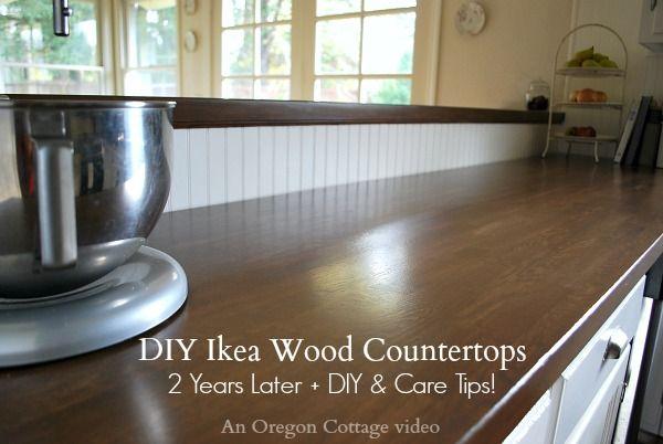 diy ikea wood butcher block countertops 2 years later