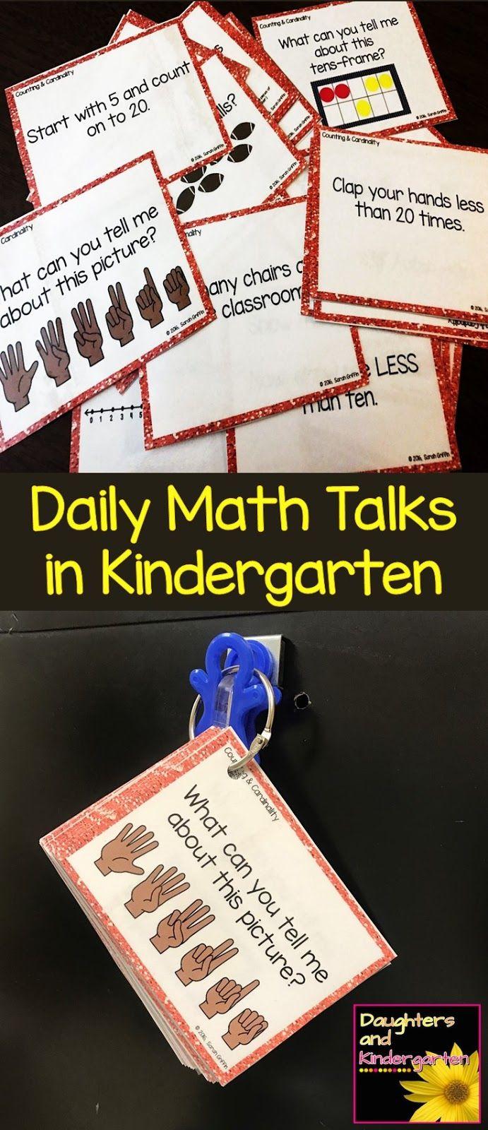 Daily math talks, number talks