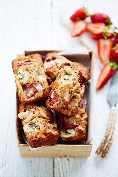 Lorna jane recipe - Strawberry, Banana & Almond Friand