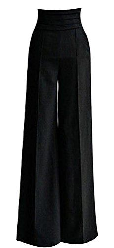 35% Off was $46.60, now is $30.10! HKJIEVSHOP Women Sexy Casual High Waist Flare Wide Long Pants Palazzo Trousers