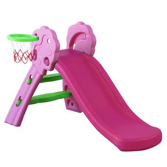 Buy NaVa DIY Mini Foldable Children Slide with Basketball and Net for Indoor and Outdoor (Pink) online at Lazada. Discount prices and promotional sale on all. Free Shipping.