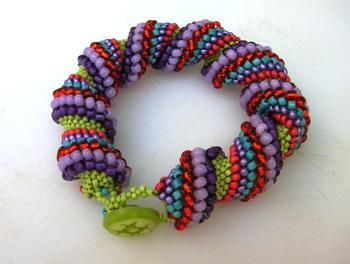 Free Kumihimo Bracelet Patterns | BRACELET WITH BEAD PROJECT « Bracelets: Jewelry
